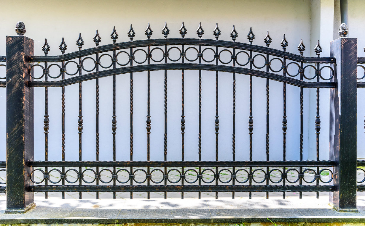 Decorative wrought iron fence for home or business