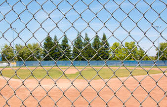 Chain link fence used for home, baseball field fence, business fence, pet fence