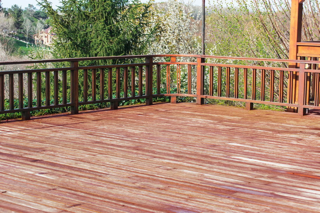 Wooden deck porch and railing beautiful safety rail for home
