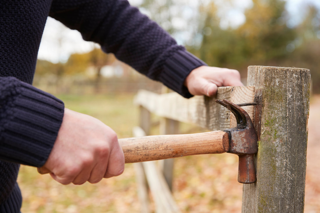 Fence maintenance repair to fix broken fence cheap option
