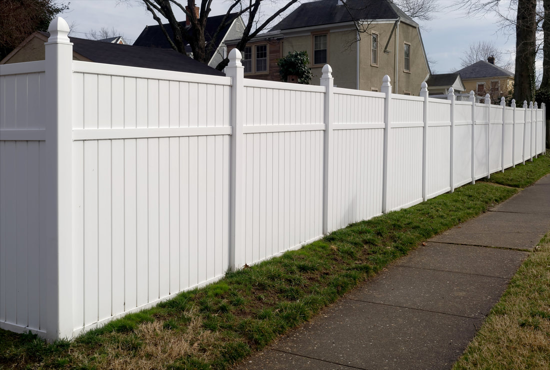 Vinyl privacy fence durable, clean, customized look for home